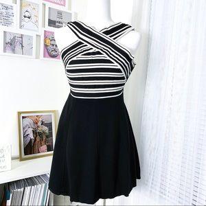 Anthro's Maeve Bandage Striped Dress Flared Skirt